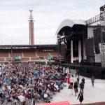 Leonard Cohen in het Olympisch Stadion in Amsterdam